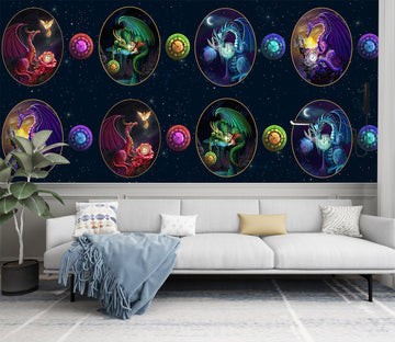 3D Dragon Egg 1407 Rose Catherine Khan Wall Mural Wall Murals