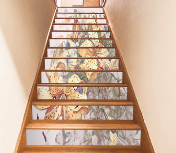 3D Flowers 253 Stair Risers Wallpaper AJ Wallpaper