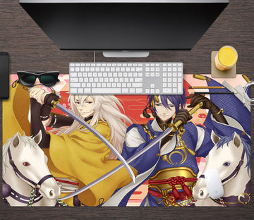 3D Anime Warrior 605 Desk Mat Mat AJ Creativity Home