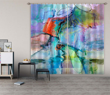3D Color River 223 Michael Tienhaara Curtain Curtains Drapes