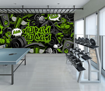 3D Green Pattern 301 Wall Murals