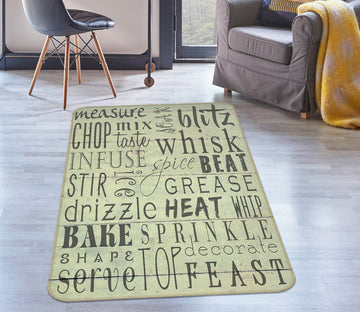 3D English Alphabet 1225 Studio MetaFlorica Rug Non Slip Rug Mat