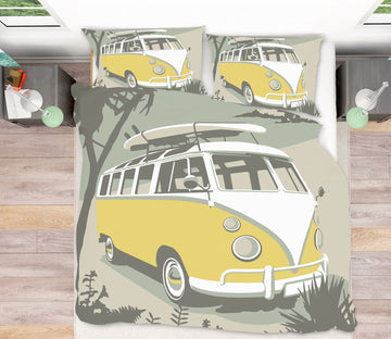 3D St Ives Camper 2068 Steve Read Bedding Bed Pillowcases Quilt