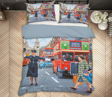 3D WPC On Ludgate Hill 2078 Trevor Mitchell bedding Bed Pillowcases Quilt