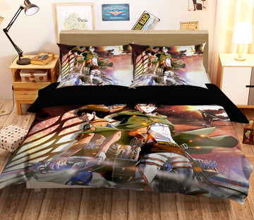 3D Attack On Titan 1655 Anime Bed Pillowcases Quilt Quiet Covers AJ Creativity Home