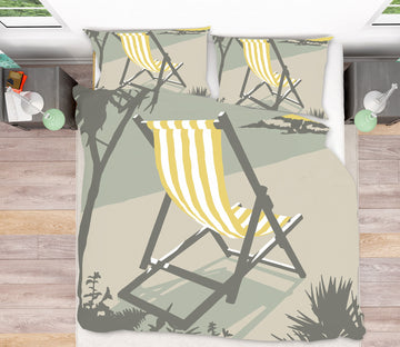 3D St Ives Deckchair 2069 Steve Read Bedding Bed Pillowcases Quilt