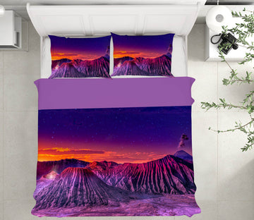 3D Purple Mountain 125 Marco Carmassi Bedding Bed Pillowcases Quilt