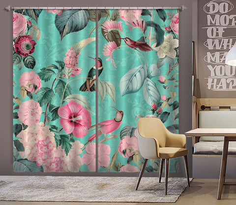 3D Flowers And Birds 060 Andrea haase Curtain Curtains Drapes