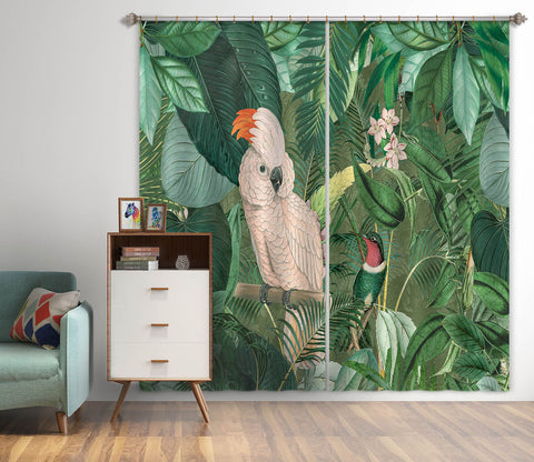 3D Jungle Friends 065 Andrea haase Curtain Curtains Drapes