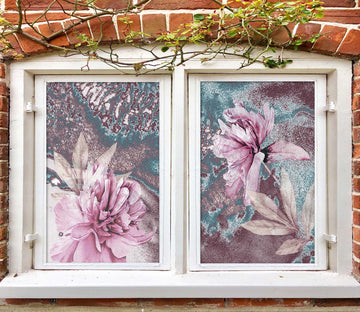 3D Pink Peony 427 Window Film Print Sticker Cling Stained Glass UV Block