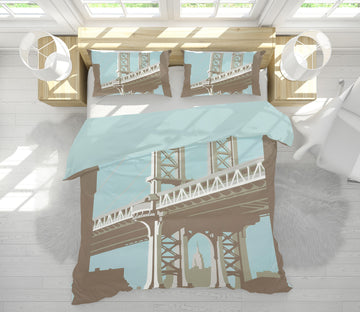 3D New York 2030 Steve Read Bedding Bed Pillowcases Quilt