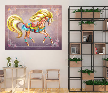 3D Golden Unicorn 206 Rose Catherine Khan Wall Sticker