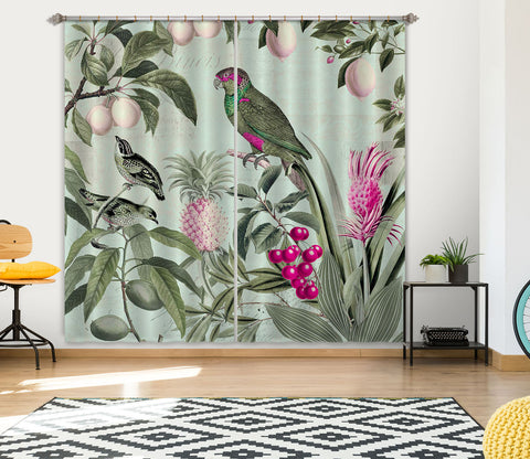 3D Fruit Paradise 058 Andrea haase Curtain Curtains Drapes