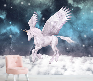 3D Unicorn Wings 1520 Wall Murals