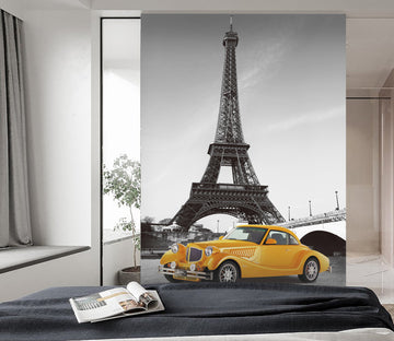 3D Eiffel Tower Car 438 Vehicle Wall Murals