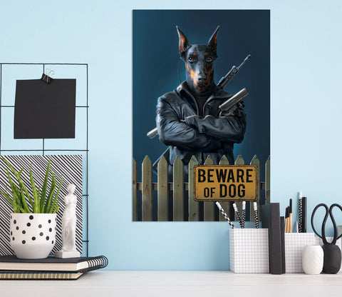 3D Beware Of Dog 011 Vincent Hie Wall Sticker