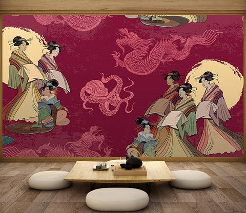 3D Ancient Lady 664 Wall Murals Wallpaper AJ Wallpaper 2
