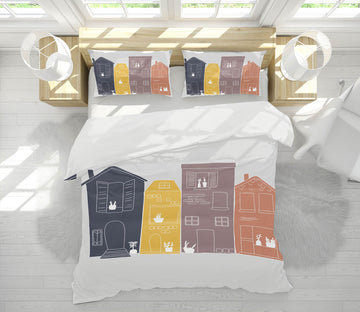 3D Color House 2105 Jillian Helvey Bedding Bed Pillowcases Quilt