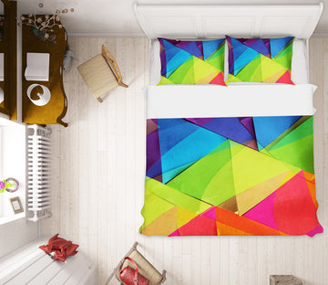 3D Triangle Color 70188 Shandra Smith Bedding Bed Pillowcases Quilt