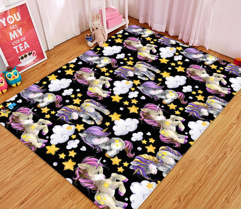 3D Cute Cartoon Unicorn 26 Non Slip Rug Mat Mat AJ Creativity Home