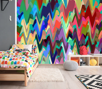 3D Colored Wavy 71092 Shandra Smith Wall Mural Wall Murals