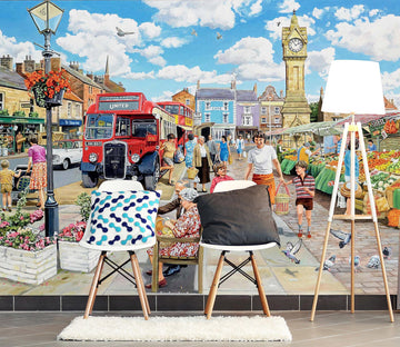 3D A Trip To The Shops 1002 Trevor Mitchell Wall Mural Wall Murals Wallpaper AJ Wallpaper 2