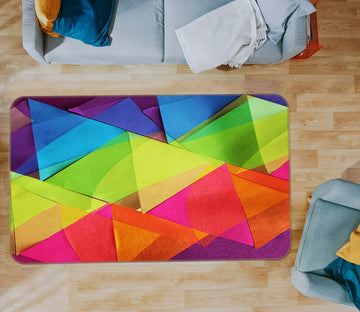 3D Colored Triangle 71024 Shandra Smith Rug Non Slip Rug Mat