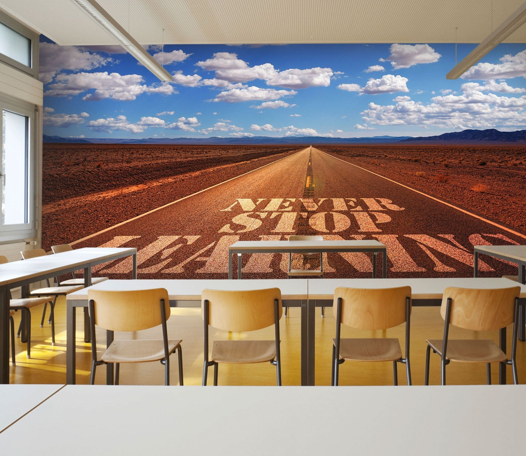 3D never stop learning road 26 Wall Murals