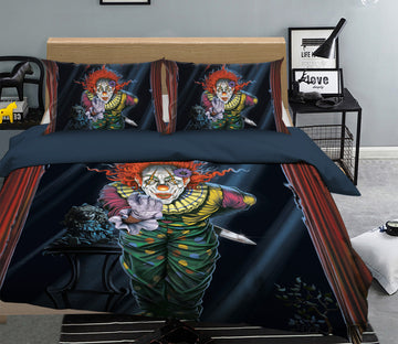 3D Surprise Clown 085 Bed Pillowcases Quilt Exclusive Designer Vincent