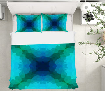3D Shades Blue Green 70180 Shandra Smith Bedding Bed Pillowcases Quilt