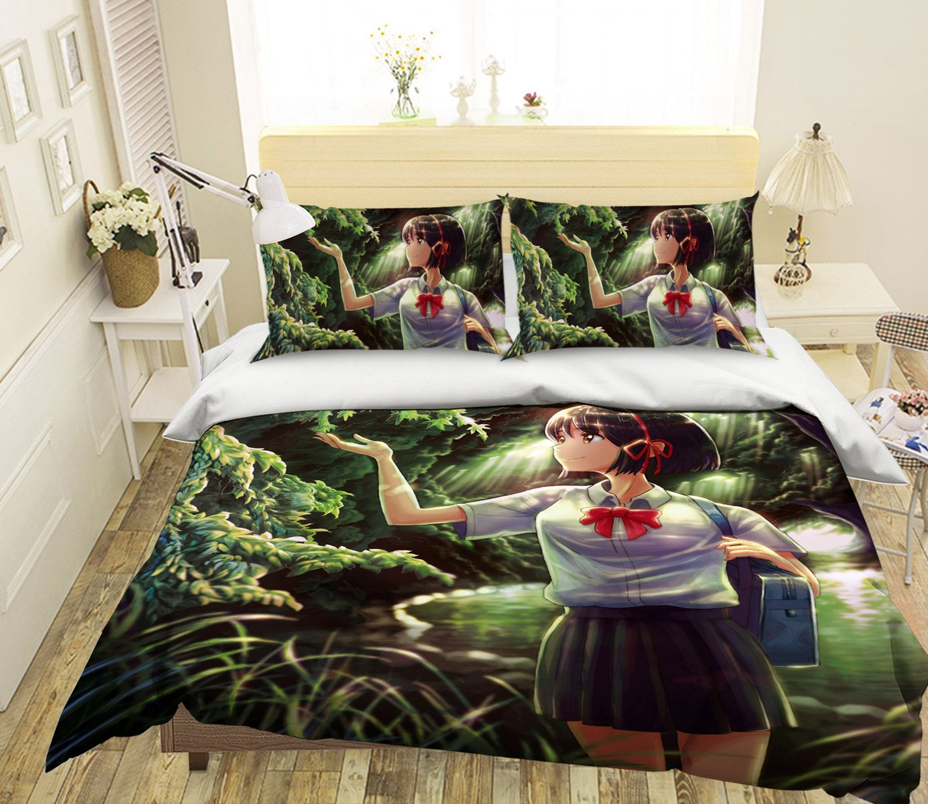 3D Your Name 526 Anime Bed Pillowcases Quilt