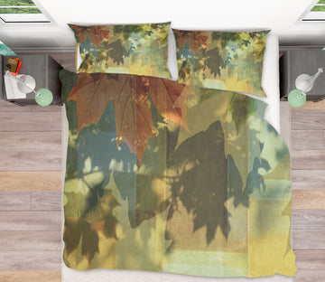 3D Shadow Play Leaves 094 Studio MetaFlorica Bedding Bed Pillowcases Quilt