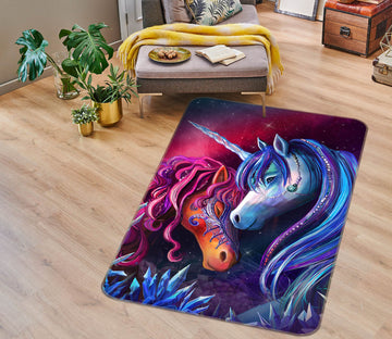3D Snuggle Each Other 3030 Rose Catherine Khan Rug Non Slip Rug Mat