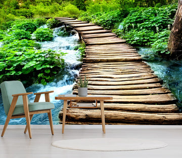 Forest Wooden Bridge 1 Wallpaper AJ Wallpaper