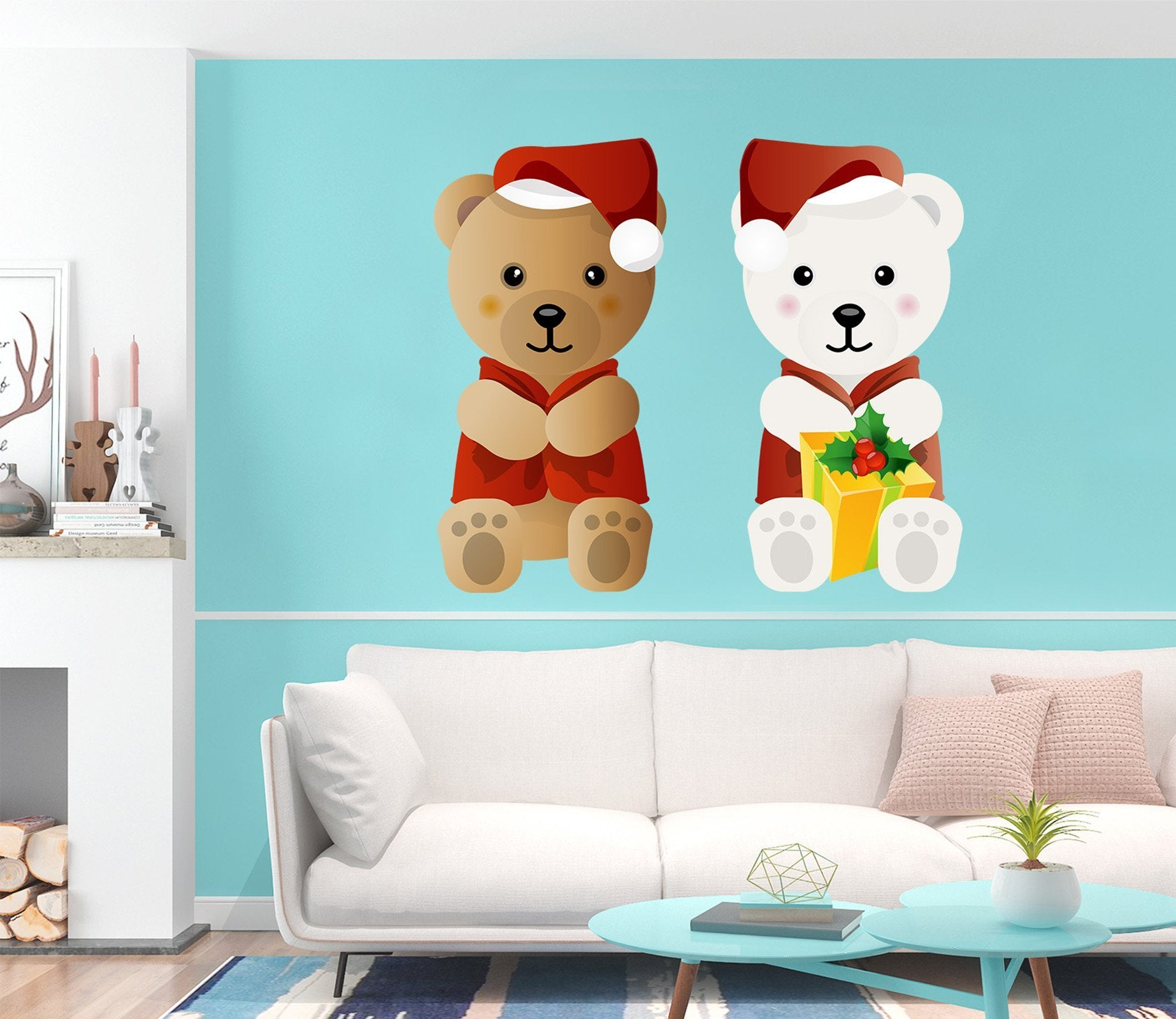 3D Teddy Bear Cute 46 Wall Stickers Wallpaper AJ Wallpaper