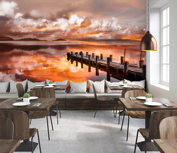 3D Red Sky 1433 Marco Carmassi Wall Mural Wall Murals