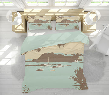 3D Sandbanks Brownsea Island 2049 Steve Read Bedding Bed Pillowcases Quilt