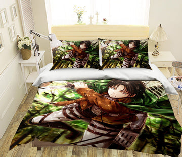 3D Attack On Titan 1490 Anime Bed Pillowcases Quilt Quiet Covers AJ Creativity Home