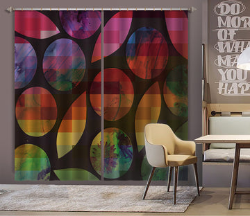 3D Color Geometry 037 Shandra Smith Curtain Curtains Drapes