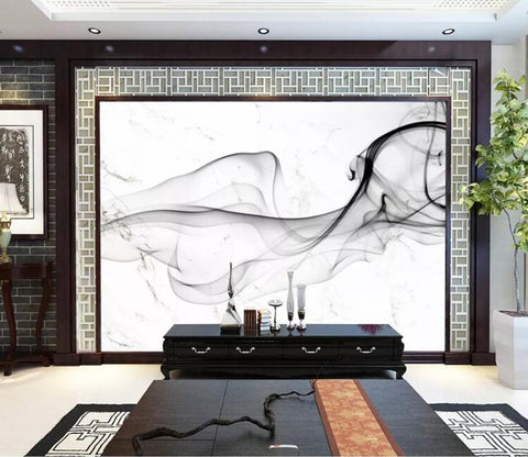 3D Black Splash WC10 Wall Murals