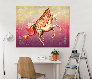 3D Wing Horse 104 Rose Catherine Khan Wall Sticker