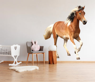 3D Free Running Horse 109 Animals Wall Stickers Wallpaper AJ Wallpaper