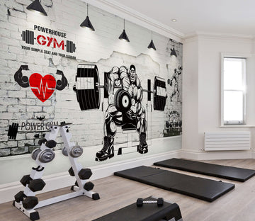 3D Barbell Animation 239 Wall Murals