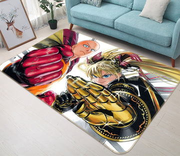 3D One Punch Man 7854 Anime Non Slip Rug Mat