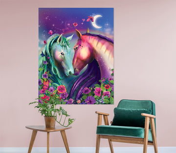 3D Color Horse 214 Rose Catherine Khan Wall Sticker