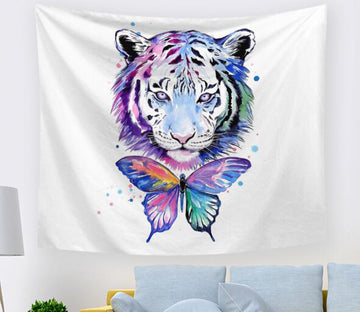 3D Butterfly Tiger 1561 Tapestry Hanging Cloth Hang