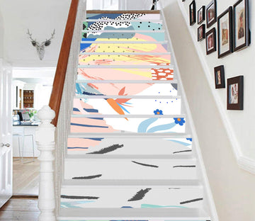 3D Fresh Painting 1650 Stair Risers Wallpaper AJ Wallpaper