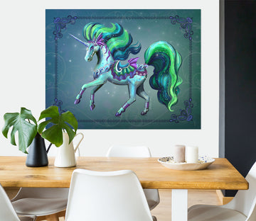 3D Cute Unicorn 115 Rose Catherine Khan Wall Sticker