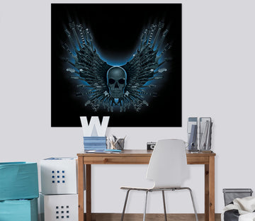 3D Skull Strings 073 Vincent Hie Wall Sticker