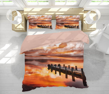 3D Sunset Pier 146 Marco Carmassi Bedding Bed Pillowcases Quilt
